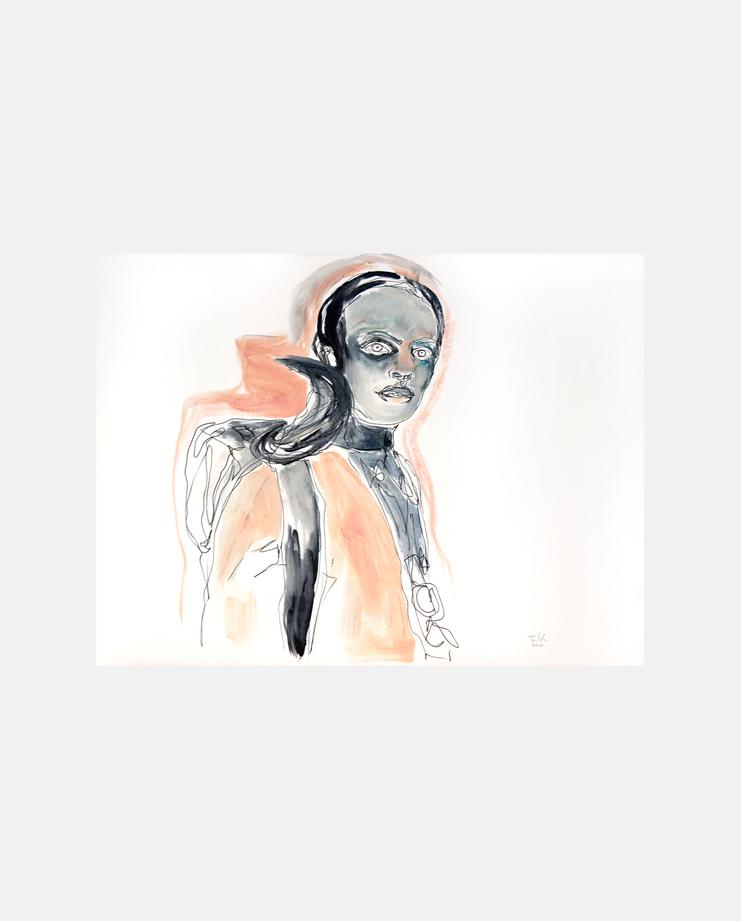 Prada S/S 17 by Tine Isachsen, showstudio, fashion illustration