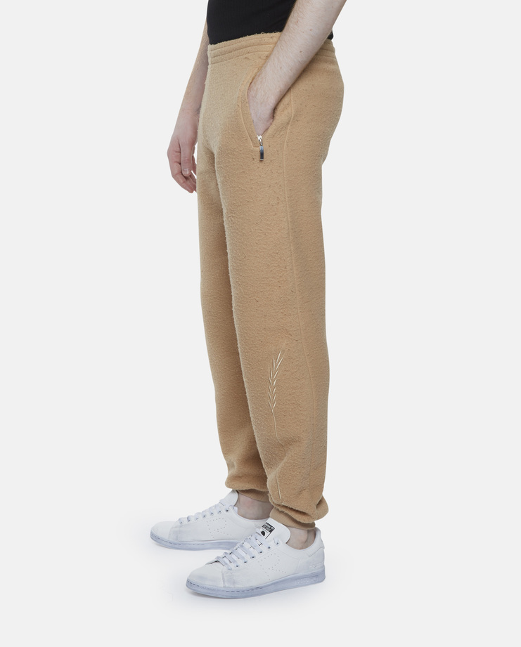 Cottweiler Wheat Joggers cotton jersey brushed embroidery embroidered sheaf leaf fluffy track suit pants running sheep aw16 beige camel nude