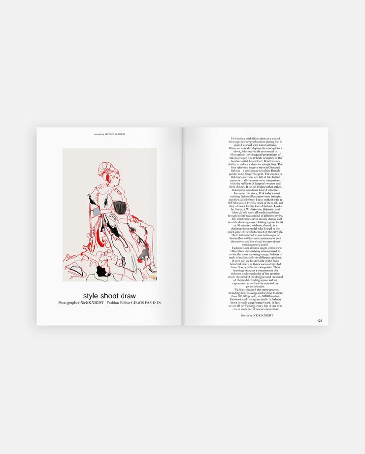 GARAGE Magazine, Issue 11, StyleShootDraw, Illustration, Live Studio, Photoshoot, Nick Knight, Molly Bair, Yasmin Winjaludum, Jazzelle, Ruth Bell, Julia Banas, Selena Forrest, Charlotte Stockdale, Katie Lyall