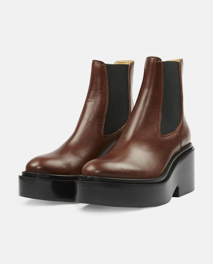 MM6 Trunk Platform Boots Brown AW16