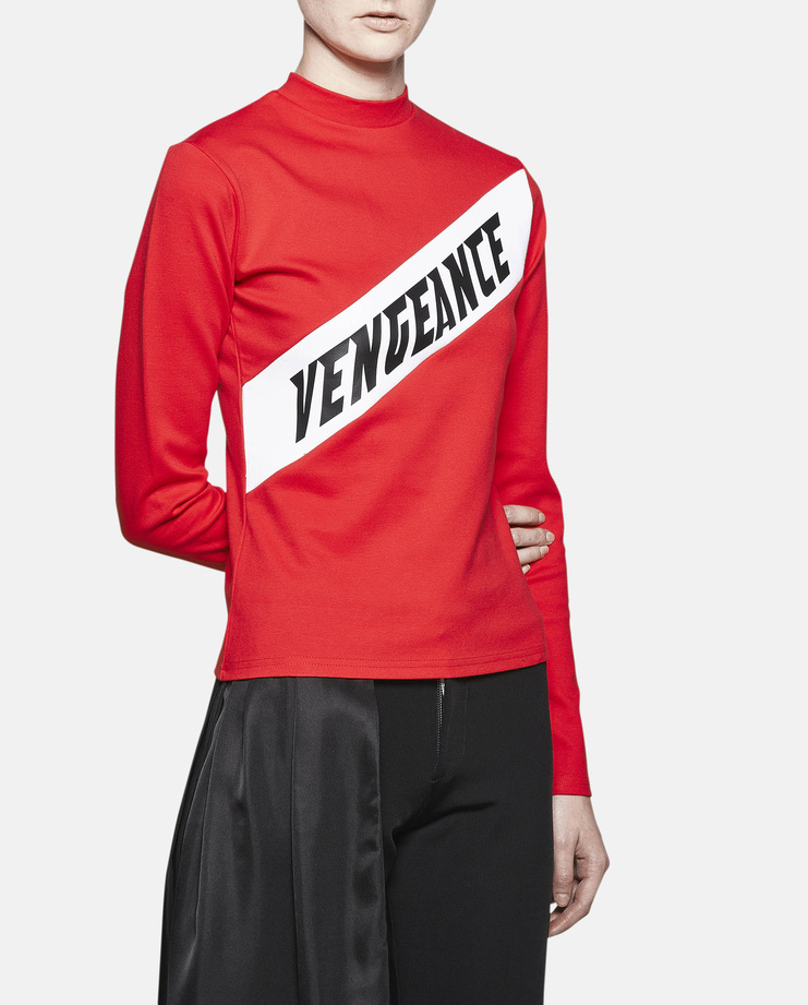 Hyein Seo Long Sleeve Vengeance Top Red AW16