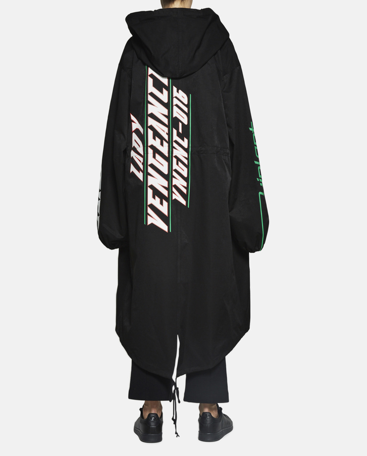 Hyein Seo - Oversized Reflective Fishtail Parka